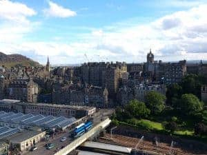 The Scott Monument - view from the top