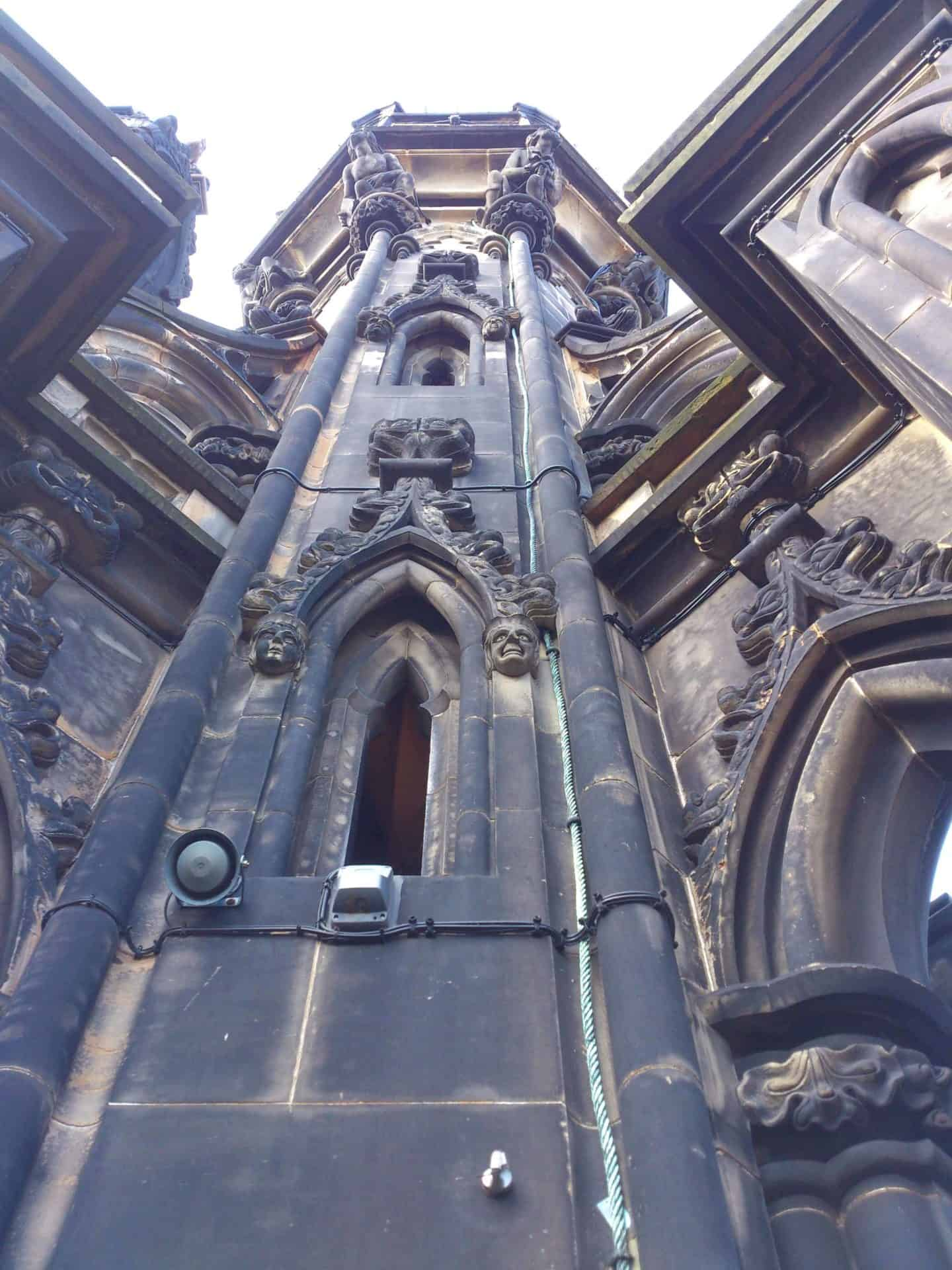 The Scott Monument - looking up