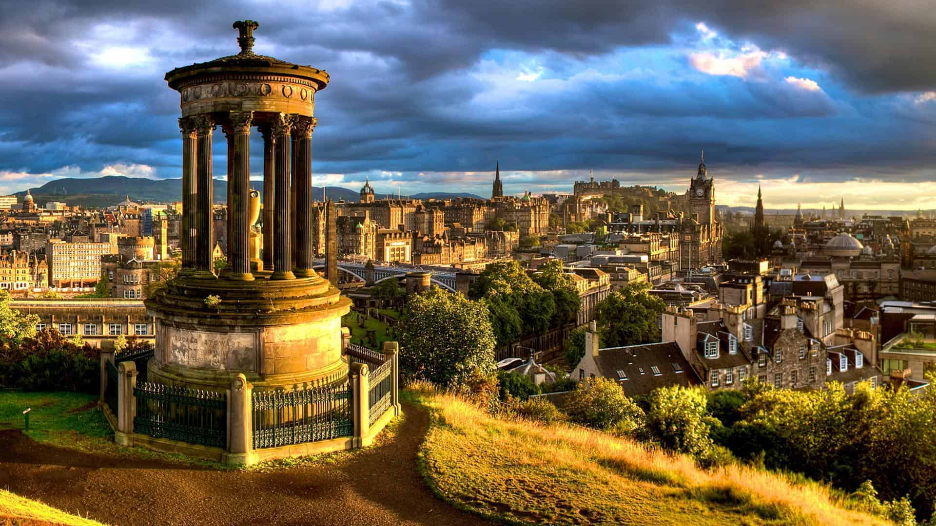 Dugald Stewart Monument on Calton Hill