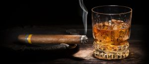 Scotch whisky and cigars