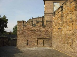 The Flodden Wall castellated section