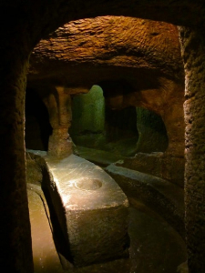 Inside Gilmerton cove