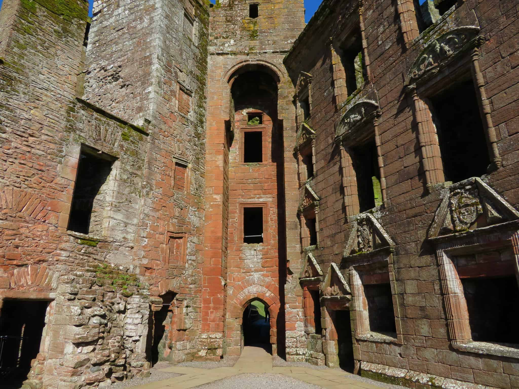 Caerlaverock Castle entrance and family lodging quarter