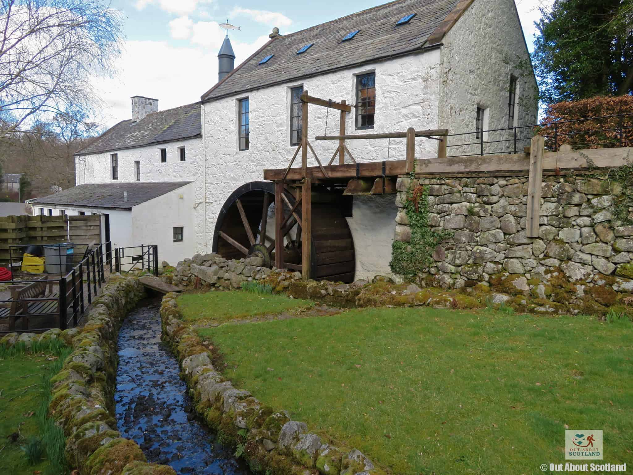 New Abbey Corn Mill water wheel