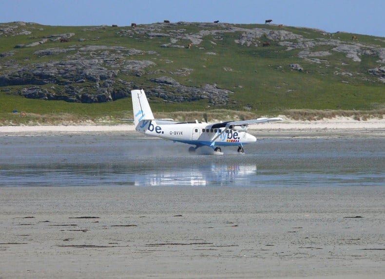Barra Airport Beach Landing