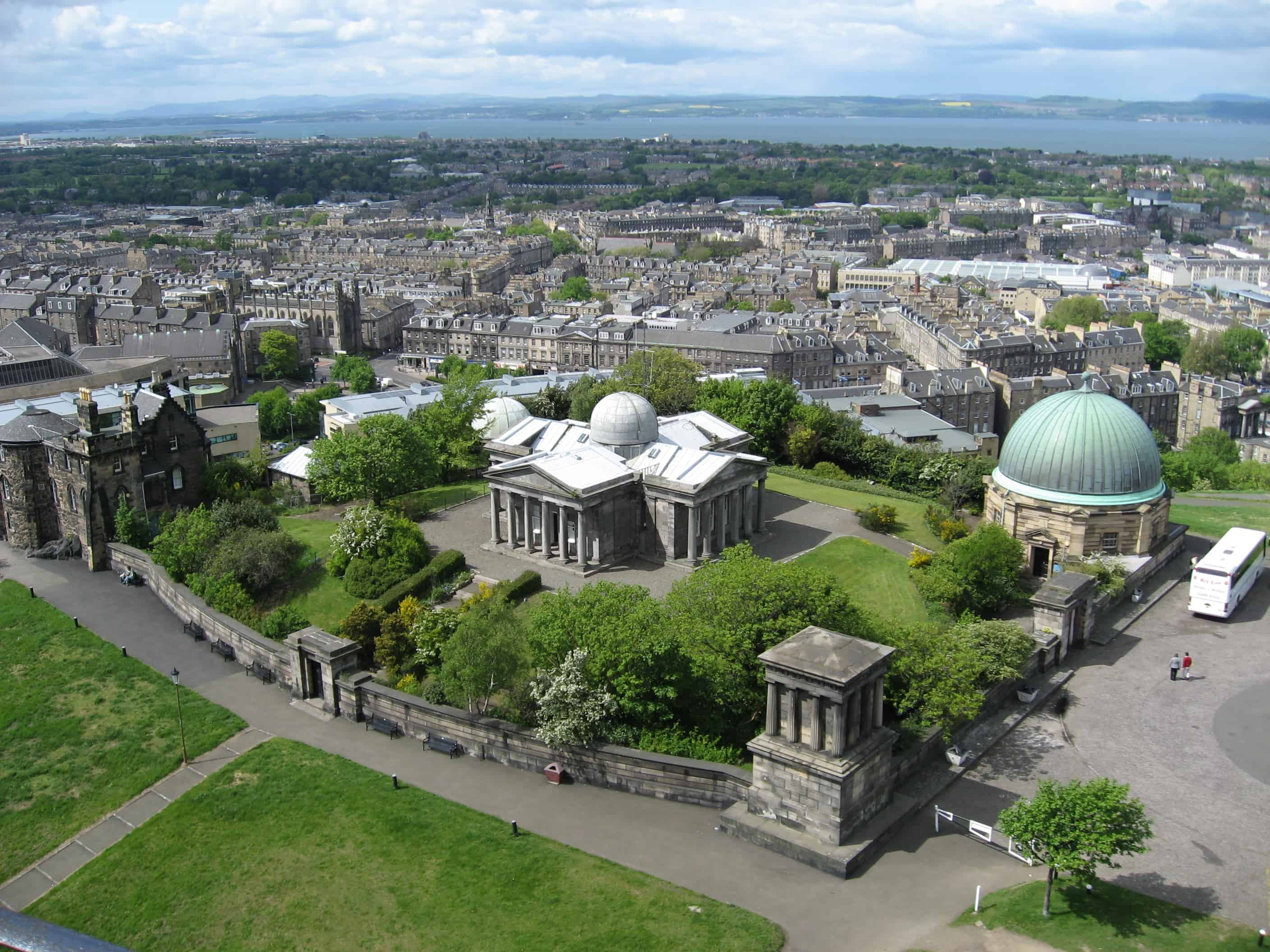 Edinburgh Observatory From Nelsons Monument - Calton Hill