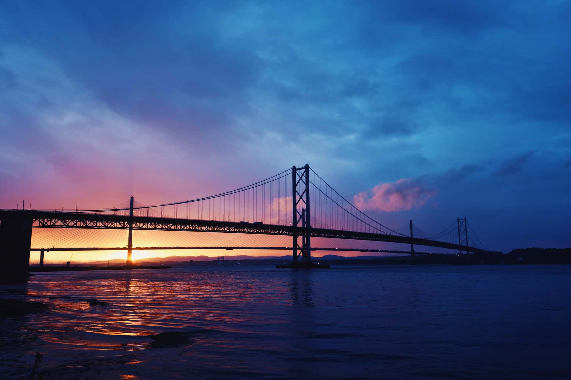 The Forth Bridges at Dusk
